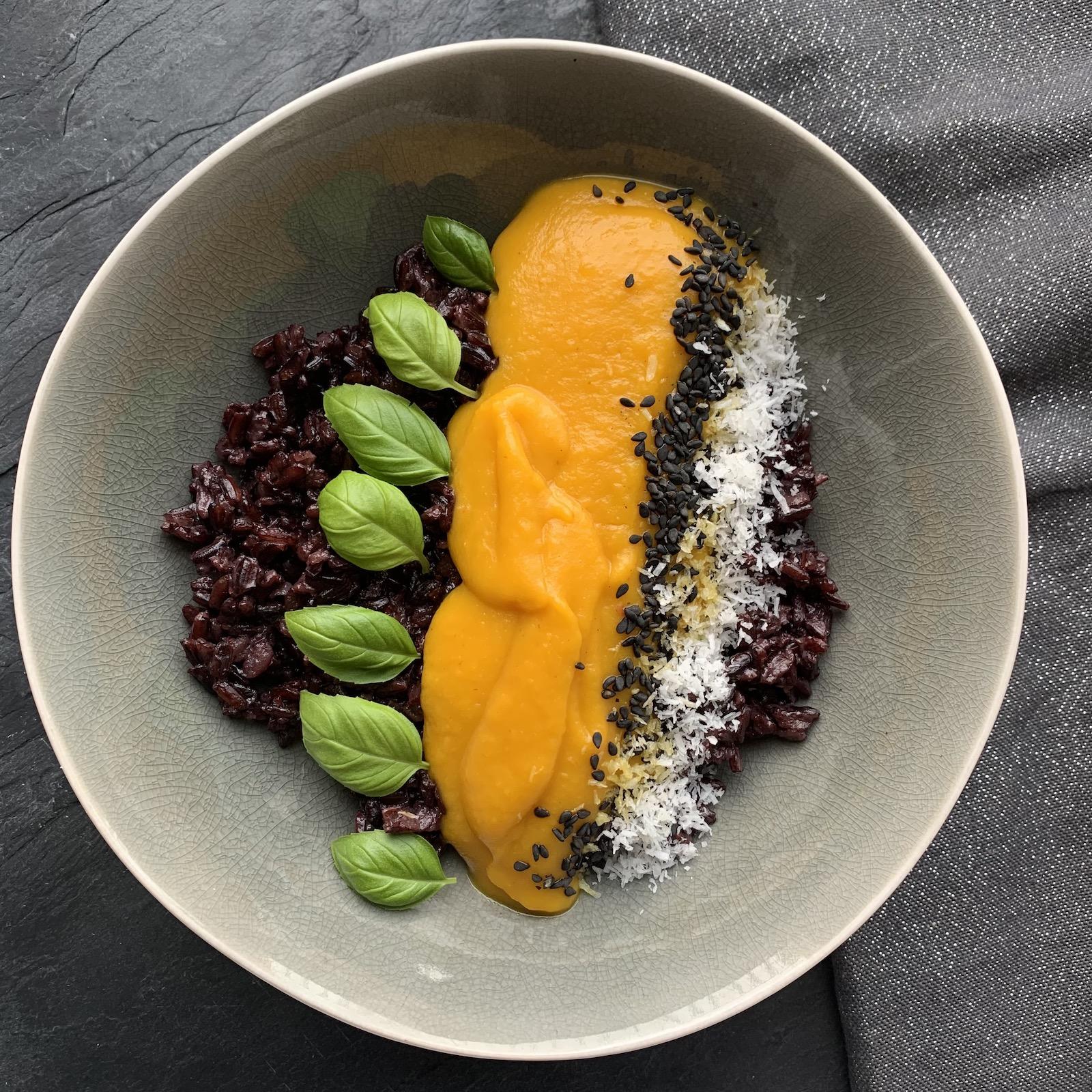 dynia z mango i ryżem