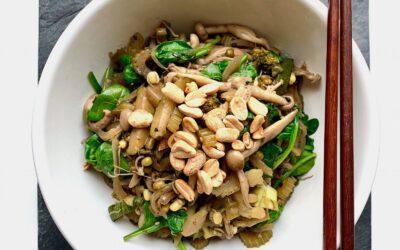 """kiełki fasoli mung z warzywami """"stir fry"""", wersja fit"""