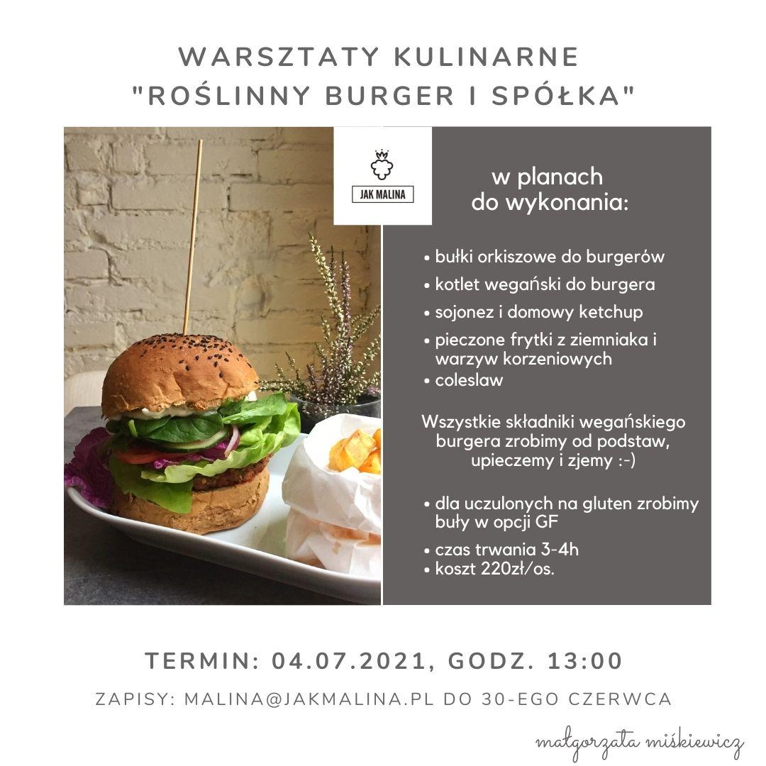 Warsztaty Kulinarne Roślinny Burger i Spółka