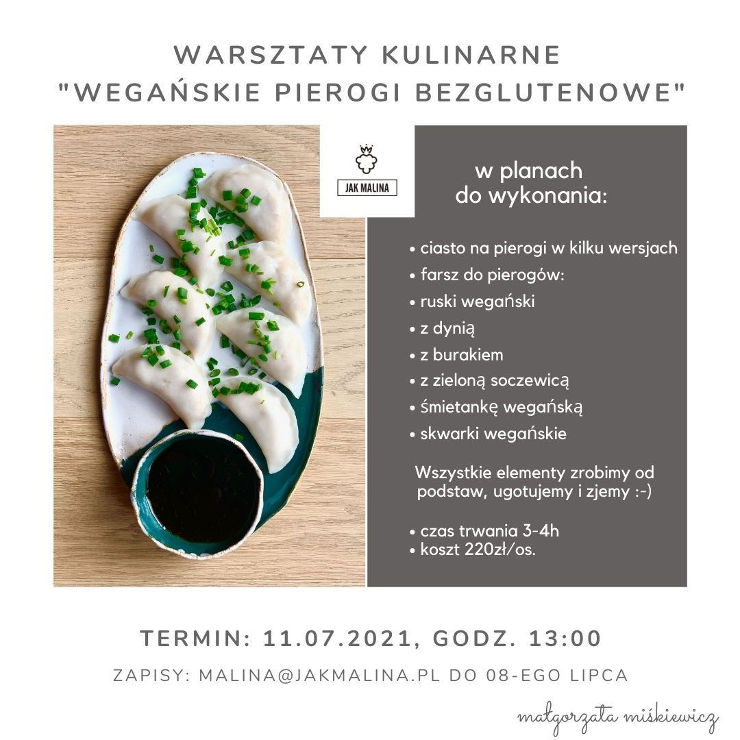Warsztaty Kulinarne Wegańskie Pierogi Bezglutenowe 1