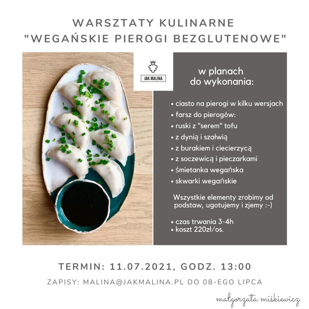 Warsztaty Kulinarne Wegańskie Pierogi Bezglutenowe 2